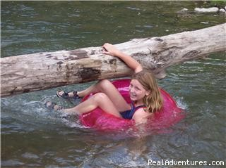 A creek for swimming, tubing and fishing - R & R Dude Ranch a year round Country Getaway
