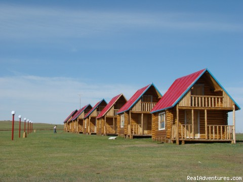 Burtu chono: Houses at the camp