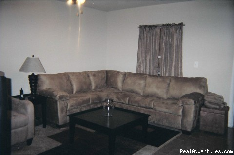 Living Room w/large Queen Sect. Sofabed (#3 of 5) - Luxury Urban Condo Near DC Attractions & Golfing