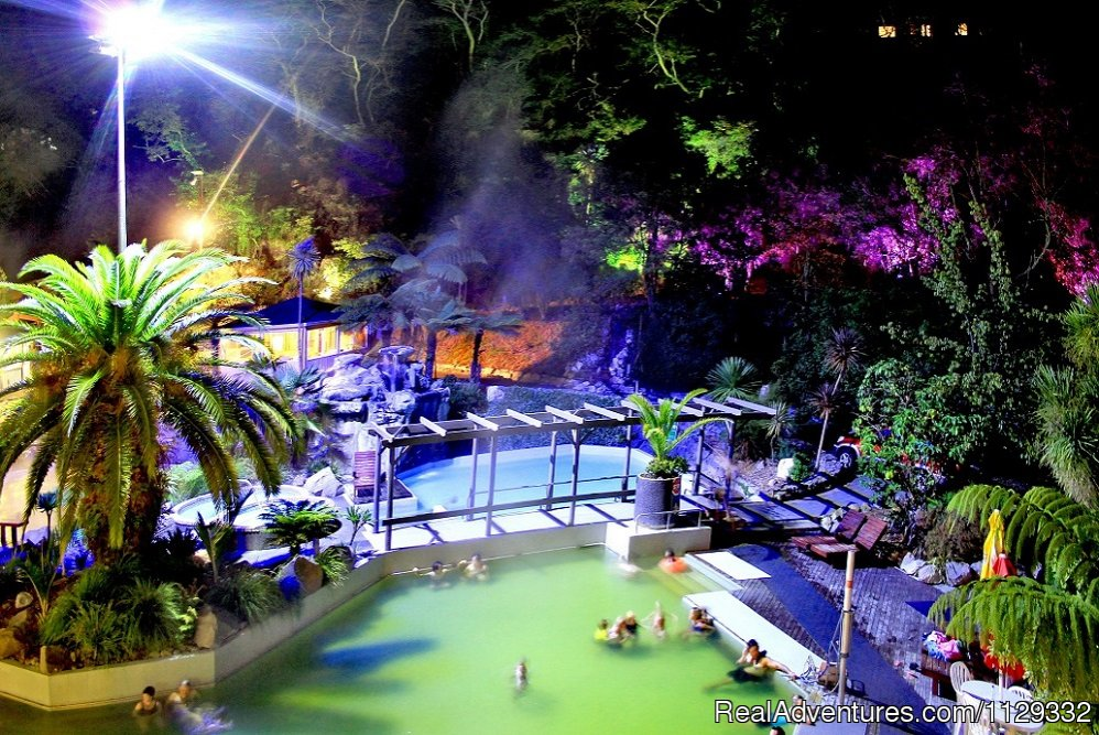 Pools - night shot | Image #7/21 | Taupo DeBretts Spa Resort