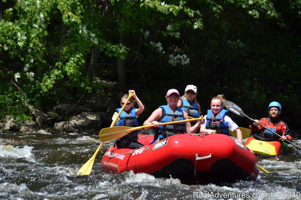 Guided Whitewater Rafting on the Lehigh River | Image #2/26 | Lehigh River Whitewater Rafting in the Poconos PA