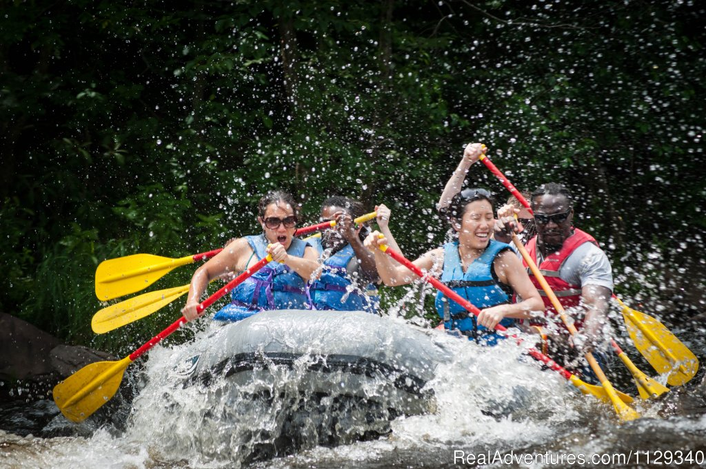 Whitewater rafting on the Lehigh River in Poconos of northeastern Pennsylvania  ... this is rafting just the way you want it.  With rafting trips ranging from easy to exhilarating.  It's the most fun you'll have all year!