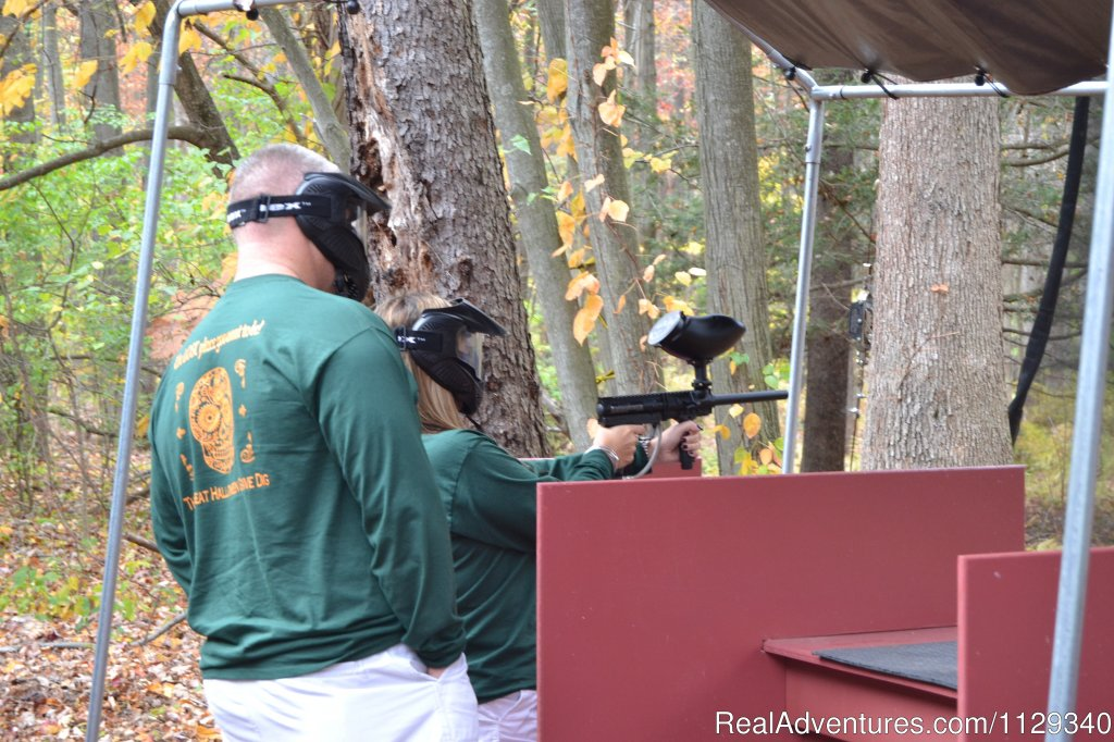 Paintball Target Range at the Campground | Image #18/26 | Lehigh River Whitewater Rafting in the Poconos PA