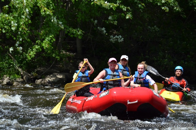 Guided Whitewater Rafting on the Lehigh River - Lehigh River Whitewater Rafting in the Poconos PA