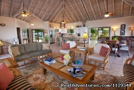 Great room viewing kitchen, living, dining areas. (#9 of 12) - Life is Good at Coconut Grove Villa.