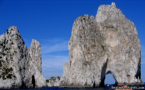 Il Faraglioni view, Capri - Private Boat Tours, Amalfi Coast and Capri