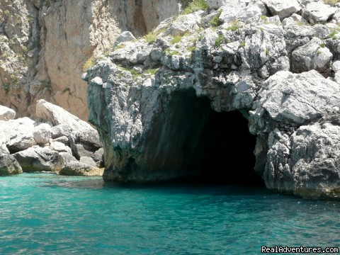 Crystal clear grotto in Capri - Private Boat Tours, Amalfi Coast and Capri