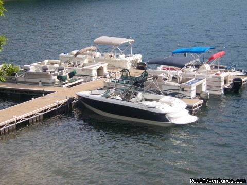 Ten-Slip Boat Dock - Your Smoky Mountain Vacation Solution