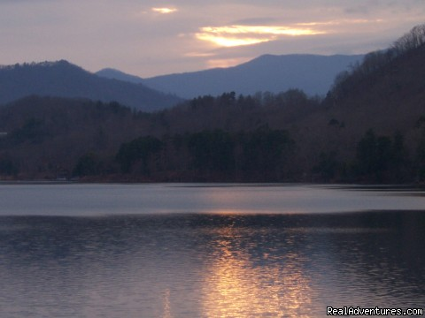 Sunset on the Lake - Your Smoky Mountain Vacation Solution