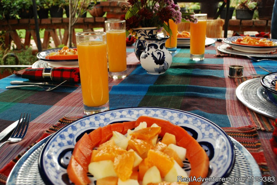 Breakfast On The Patio | Image #14/22 | Mexican Home Cooking School boutique accommodation