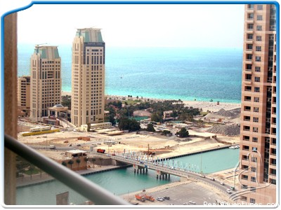 One bedroom apartment in Dubai Marina MH-2609: The view from the balcony