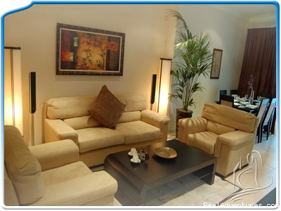 A view of the living area - One bedroom apartment in Dubai Marina MH-2609