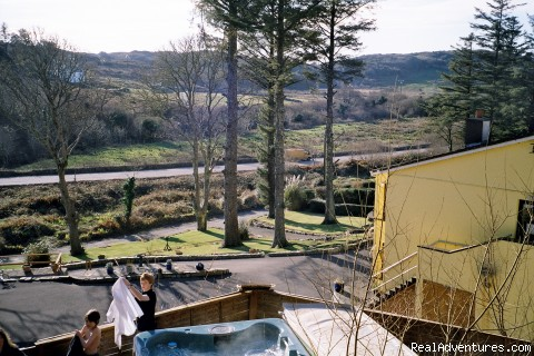 View from Hot Tub - Joyces Waterloo House- Clifden Self-Catering