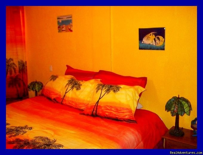 King-size bed! | Image #3/9 | Playa del Carmen Condo Vacation Rental Casita Azul