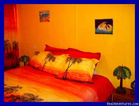 King-size bed! - Playa del Carmen Condo Vacation Rental Casita Azul