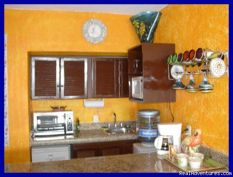 Fully-equipped kitchenette! - Playa del Carmen Condo Vacation Rental Casita Azul