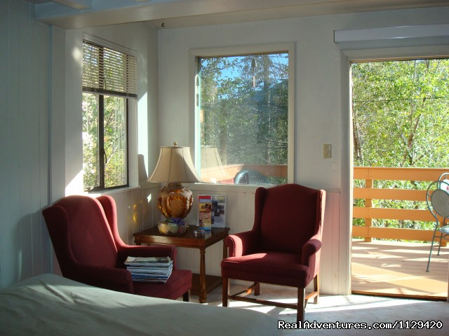 LIVING ROOM HAS ACCESS TO THE DECK - Pikes Peak Cabin  By Garden Of The Gods