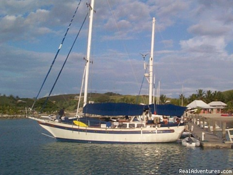 Sail around on your own resort in Fiji 300 islands