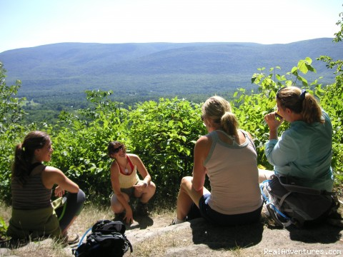 hikers at vista taking a break (#5 of 17) - Affordable Guided Hiking & Kayaking Vacations
