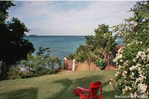 View from the breakfast table - Bogles Round House- Carriacou, Grenada