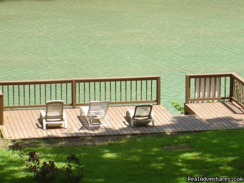 Guadalupe River just past the 4th Crossing - A1Vacation New Braunfels, Luxury Homes in Texas