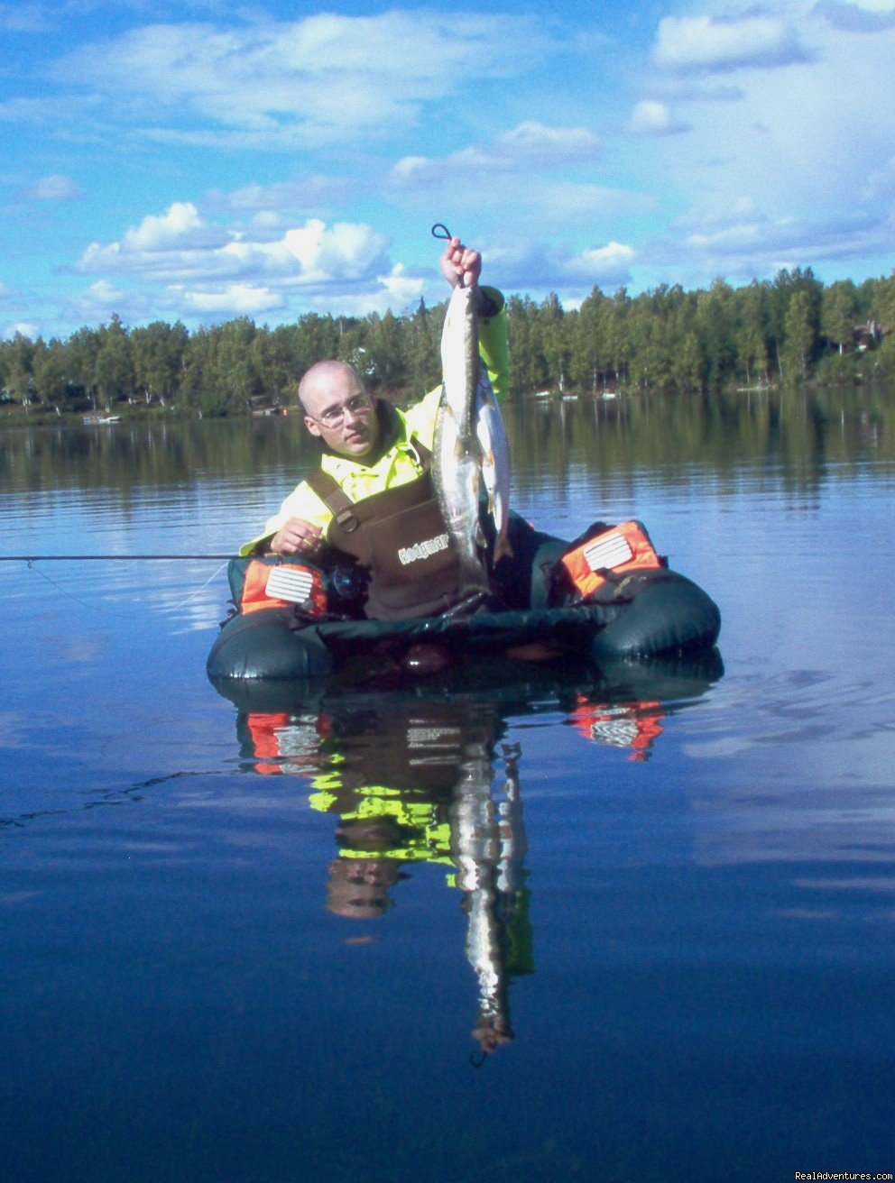 Alaska vacationers experience fly fishing from a float tube in trophy fly fishing waters at bargain prices. Learn Carlyle's methods on fly fishing. My website lists 170 lakes. I  fly fish all of them. Browse them here and when you choose one call me