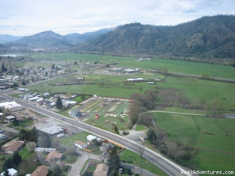 Tri City RV Park Aerial View of Park & surrounding area