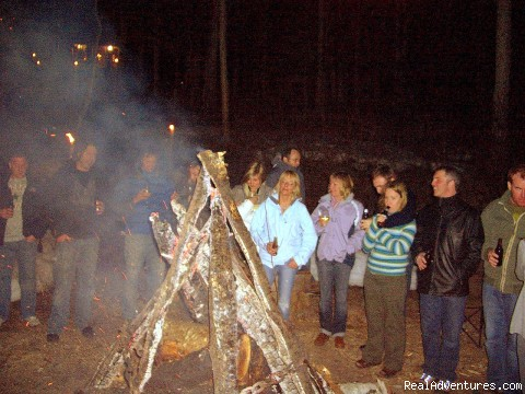 Bonfire Party - on Deer Lake Beach - My Newfoundland Adventures