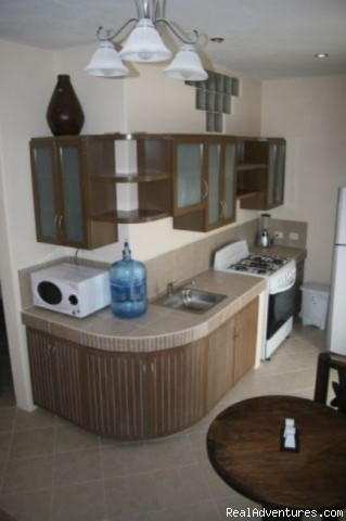 Full kitchen with everything you need - Brand New! 1 Bdrm Gorgeous condo downtown Cozumel