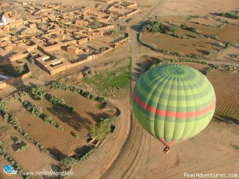 Ciel d'Afrique, Hot Air Balloon over Morocco Photo