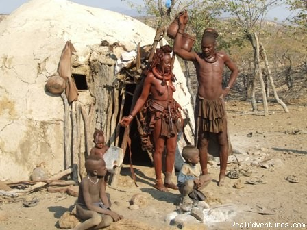 Himba Family - Namibian Camping Tours and Coastal Day Tours