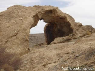 Rock Arch in the Namib-Naukluft Park - Namibian Camping Tours and Coastal Day Tours