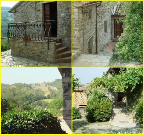 External Stairs View - Romantic Weekend in Umbria B&B Borghetto di Pedana