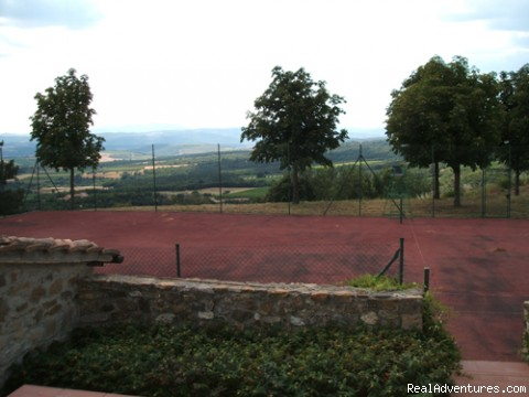tennis - charming B&B among Brunello vineyards