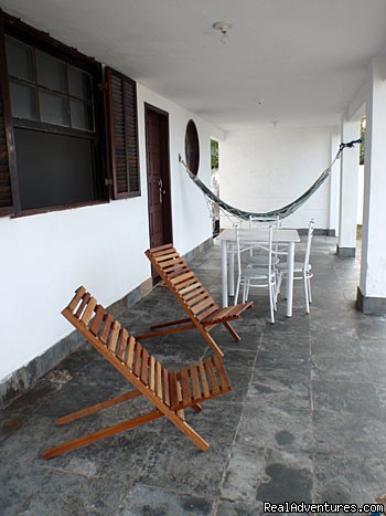Front porch - 2 Bedroom Beachfront House in Beautiful Marica