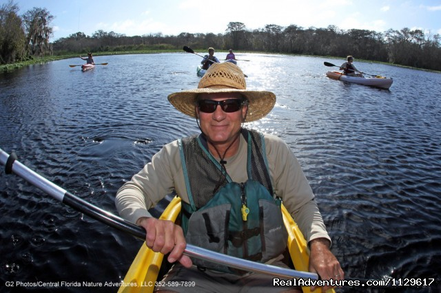Guided kayak tours in Central Florida: Our Lead Guide, Kenny Boyd
