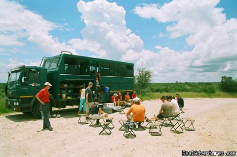 Lunch stop on route - Adventure Overland Safaris with Africa Travel Co