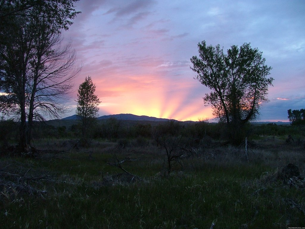 Sunrise on Big Trout Ranch | Image #12/19 | Riverfront Cabins on a Private 1400 acre ranch