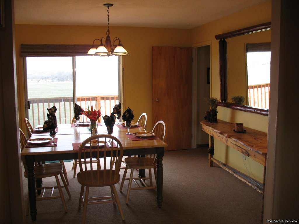 Dining Room in Kamloops | Image #13/19 | Riverfront Cabins on a Private 1400 acre ranch