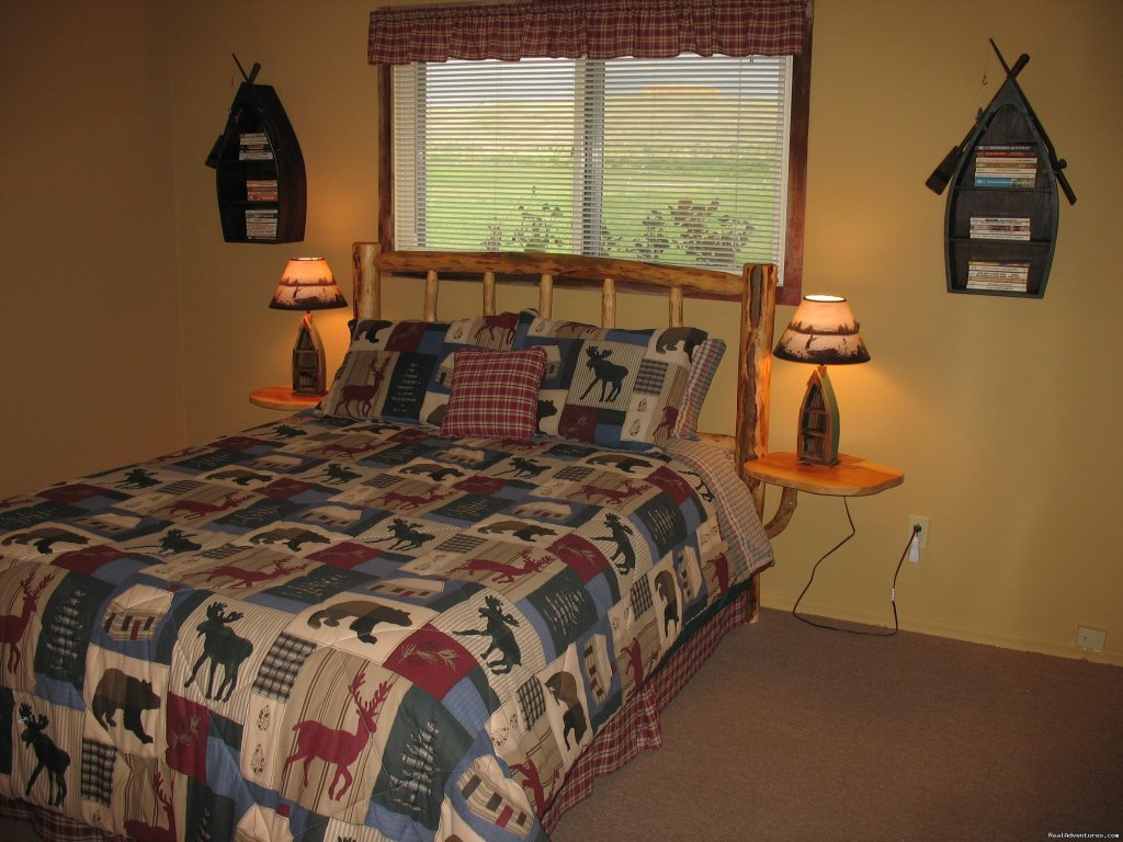 Upstairs Bedroom in Kamloops | Image #11/19 | Riverfront Cabins on a Private 1400 acre ranch