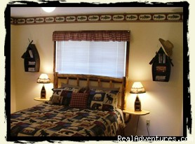 Bedroom in Kamloops - Riverfront Cabins on a Private 1400 acre ranch