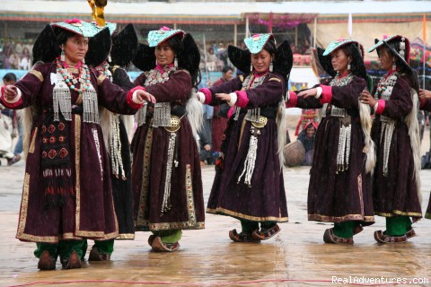 Dancing Ladakhi Women - Trekking,Expedition and Family Holiday in Ladakh.