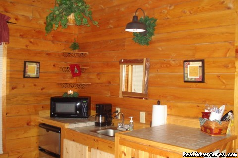 Country Charm Kitchenette - Serenity Log Cabins