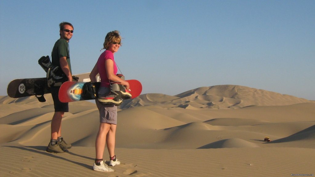 Sand boarding at Huacachina Oasis | Image #11/15 | Incas & Amazon - Peru Small Group Adventure