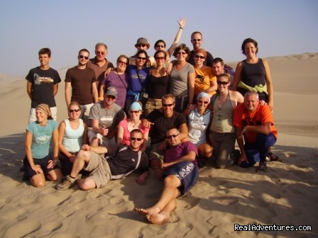 Oasis travellers in the Ica Desert - Incas & Amazon - Peru Small Group Adventure