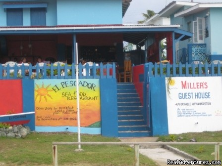 Miller's Guesthouse Tobago W.I: Front of restaurant and Guesthouse