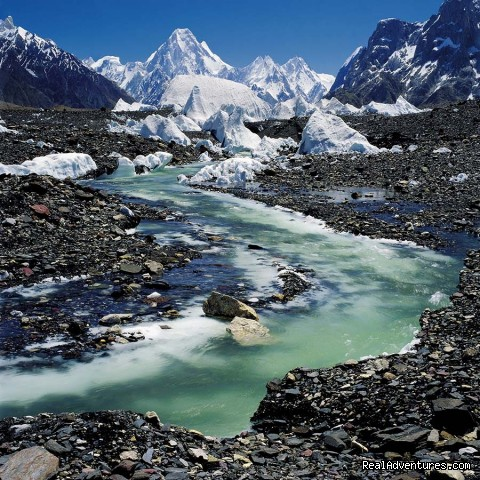 A stream on the Baltoro Glacier Skardu - NORTH PAKISTAN ADVENTURE Trekking andTours