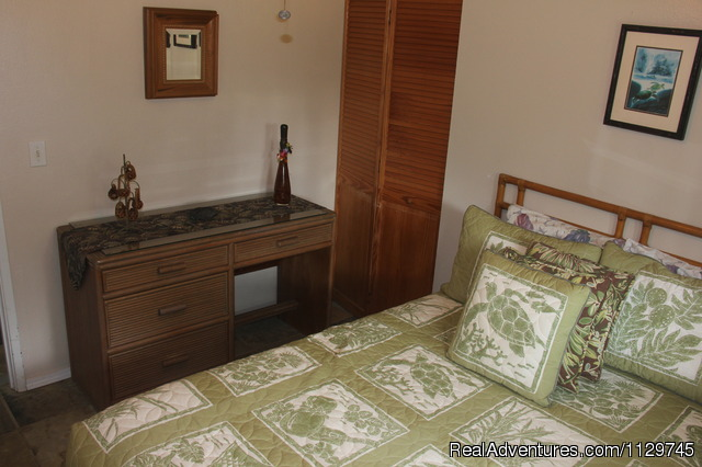 Full size bed in bedroom - Big Island Hawaii Vacation Homes at a Great Price
