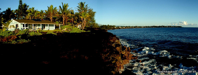 View of the Alohahouse from the oceanfront bluff