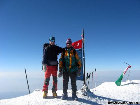- Climbing and ski mountaineering Mt. Ararat
